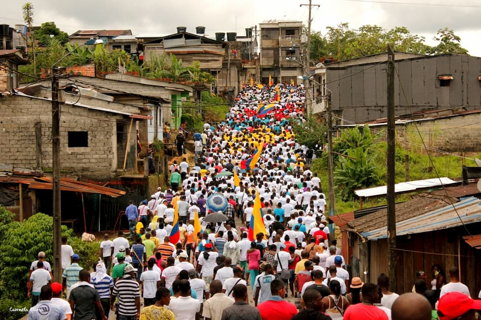 Mobilisation in the Department of Cauca