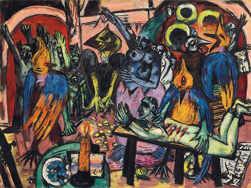 Max Beckmann, Hölle der Vögel, 1937-38