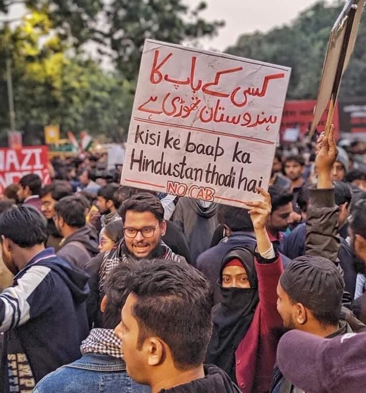 Protesta en Nueva Delhi, diciembre de 2019.