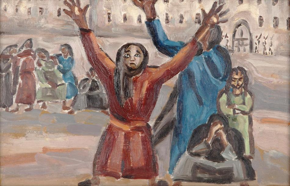 Inji Efflatoun, Prisoners, 1957.