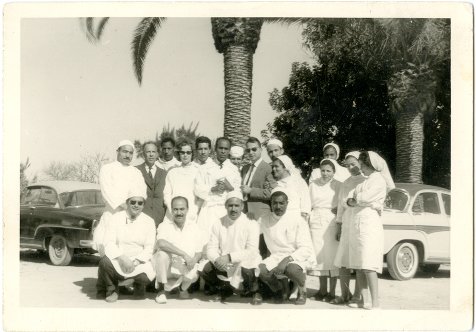 Frantz Fanon and his medical team at the Blida-Joinville Psychiatric Hospital