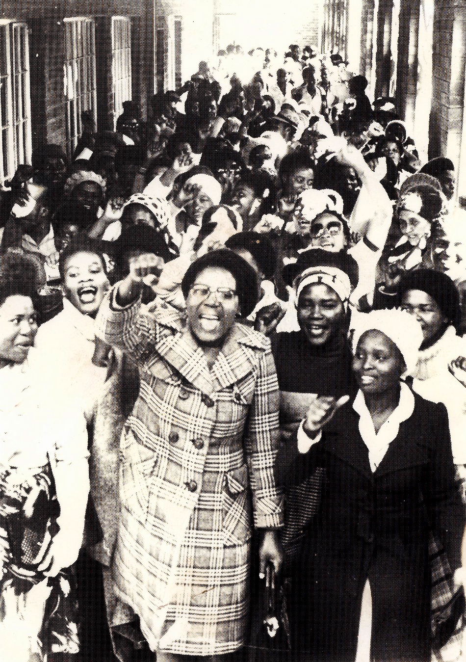 A strike organised by Dano textile workers in Hammarsdale, South Africa, 1982.