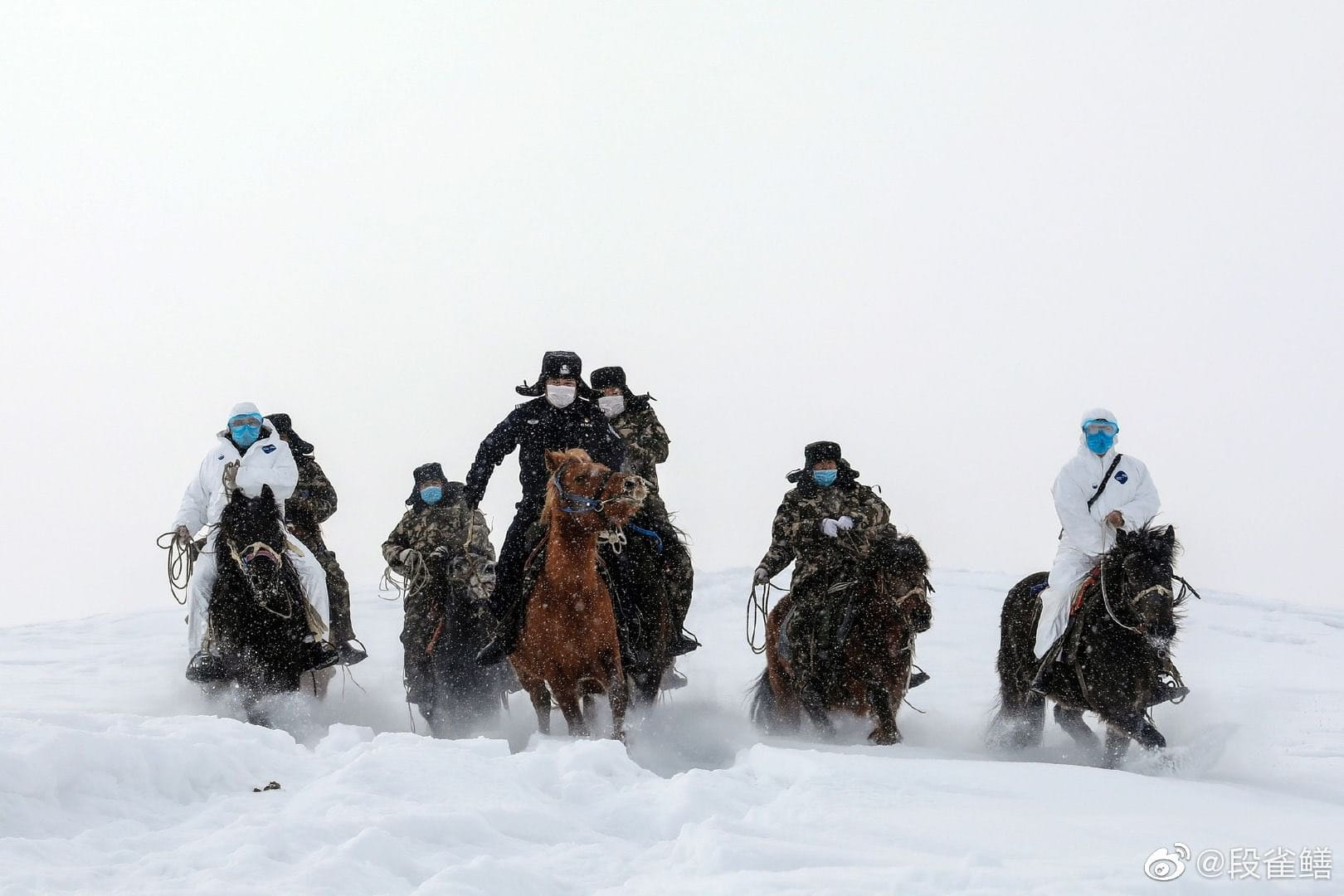 Chinese doctors in the Altai mountains.