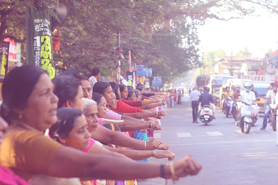 The Women's Wall in Kerala