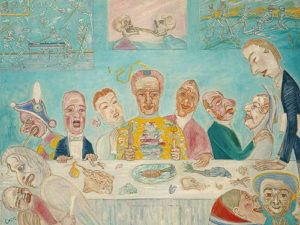 James Ensor, Comical Repast (Banquet of the Starved), 1917-18.