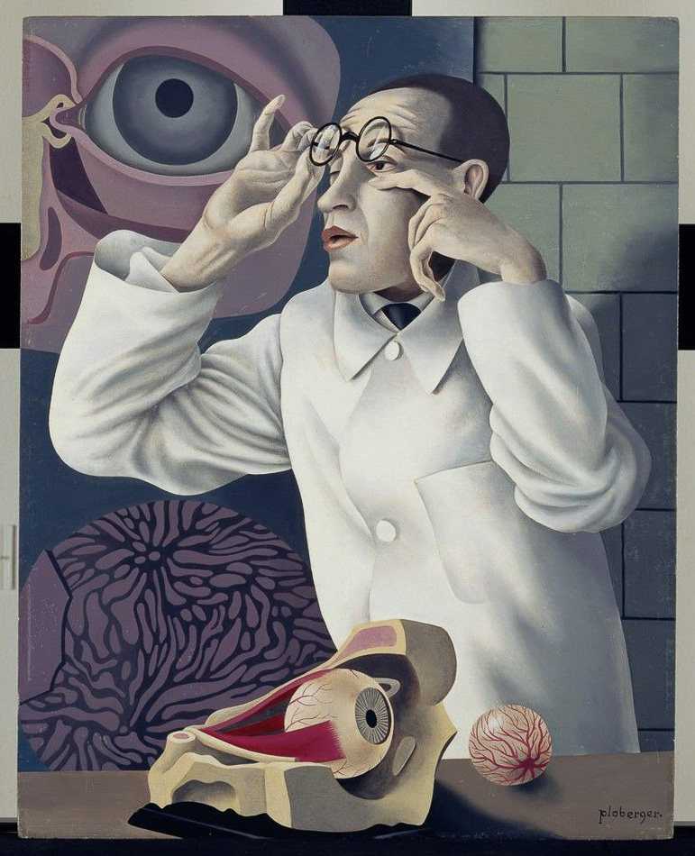 Herbert Ploberger (Austria), Self-Portrait with Opthalmological Models, 1928-1930.