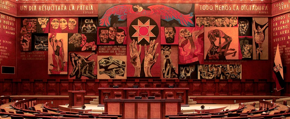 Oswaldo Guayasamín, Mural de la Patria / 'Mural of the homeland', National Assembly of Ecuador, 1988.