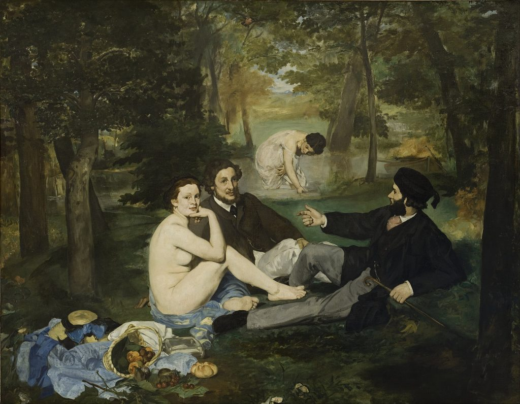 Édouard Manet, Le Déjeuner sur l'herbe / 'Luncheon on the Grass', 1863.