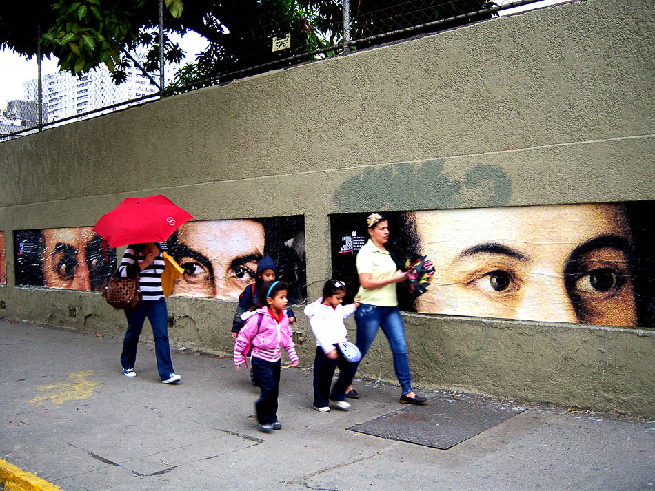 History is watching us. Bellas Artes, Caracas, 2011. Comando Creativo