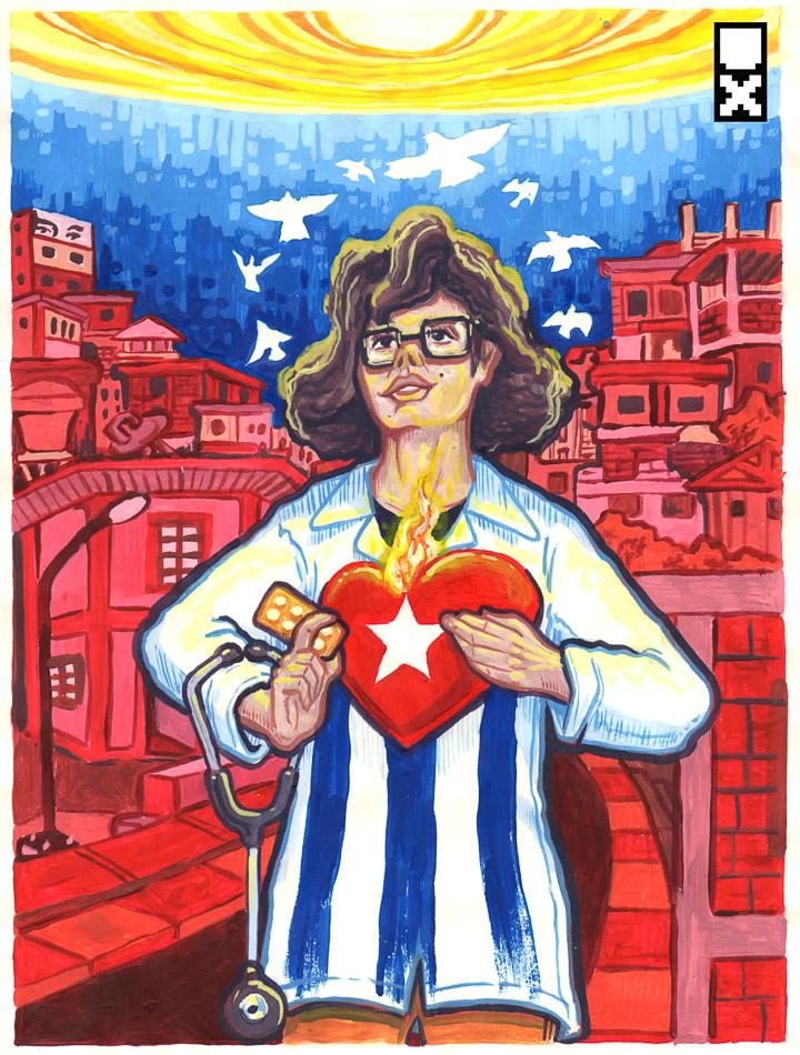 A los médicos cubanos, de Miguel Guerra (Utopix) -1