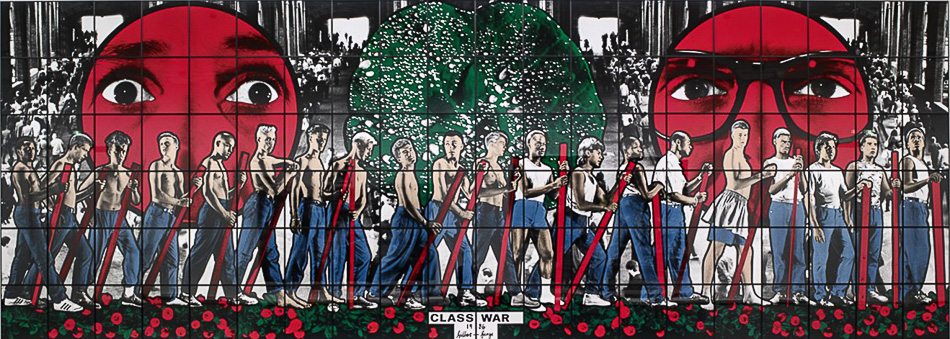 Gilbert & George (Italy/UK), Class War, 1986.