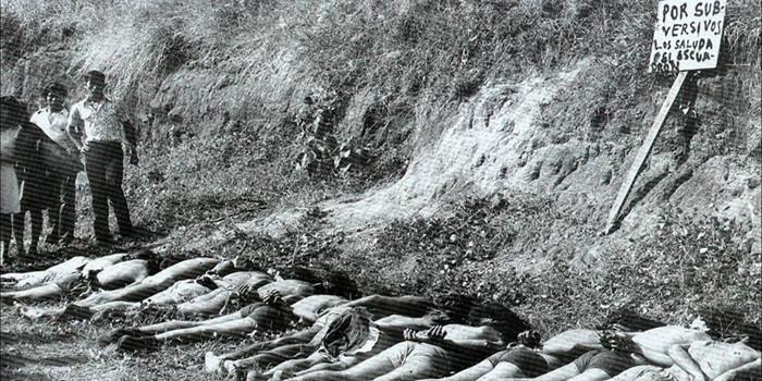 Masacre de El Mozote, El Salvador ,1982.