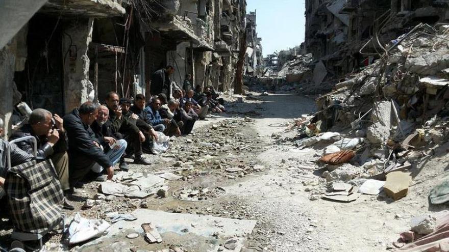 Ciudad de Homs, Siria.