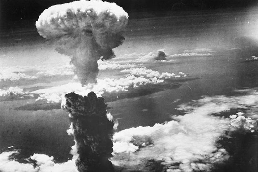 Nube de la bomba lanzada en Nagasaki