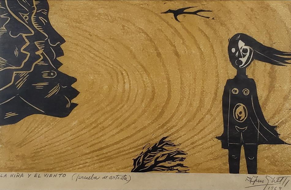 Francisco Amighetti (Costa Rica), La Niña y el viento, 1969.