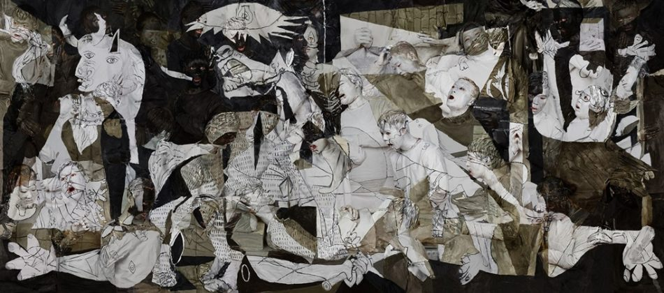 Liu Bolin (China), Guernica, 2016