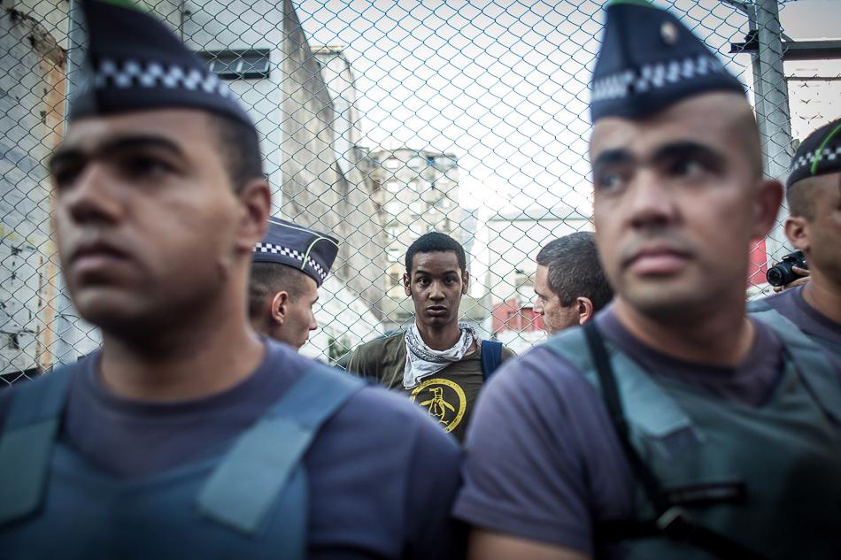 Ato dos secundaristas contra a máfia da merenda foi reprimido pela PM e um estudante foi preso. São Paulo - SP, Brasil, 2016. Mídia Ninja