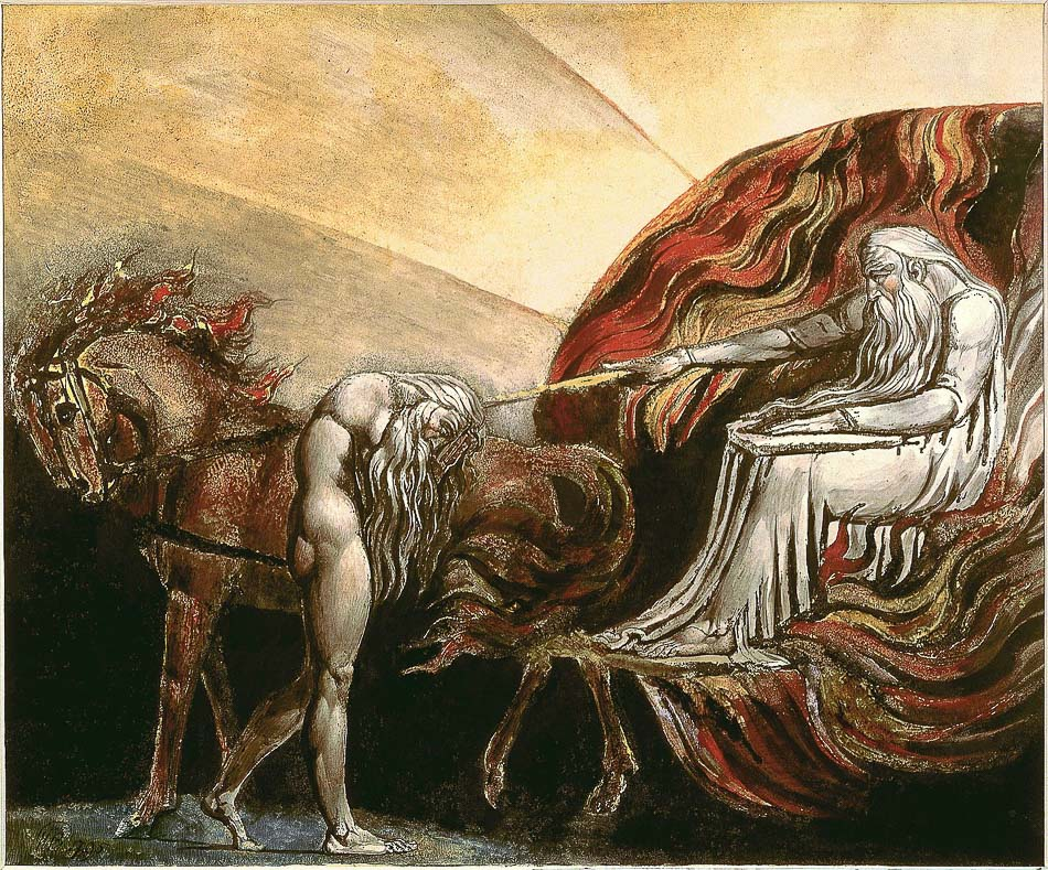William Blake (England), God Judging Adam, 1795.