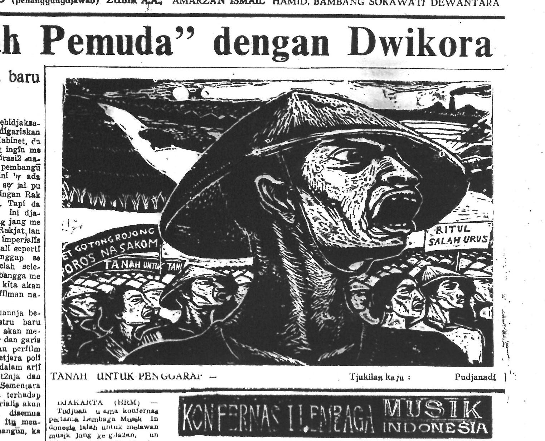 S. Pudjanadi, Tanah untuk Penggarap ('Land for Tenants') in Harian Rakyat, 25 October 1964.