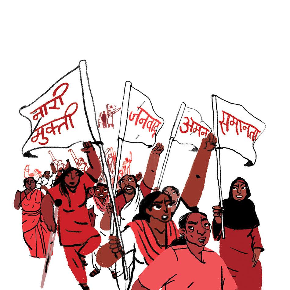 Kruttika Susarla (India) / AIDWA, International Women's Day, 2020