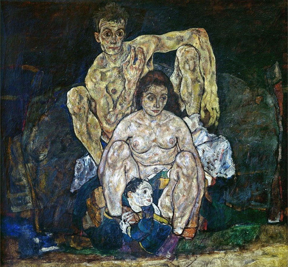 Egon Schiele (Austria), The Family, 1918.