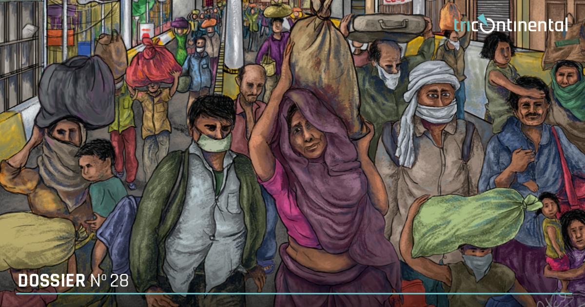 CoronaShock: A Virus and the World. Cover image by Vikas Thakur (India).