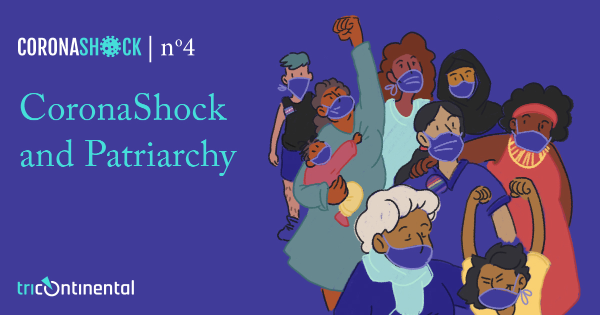 CoronaShock and Patriarchy. Cover image by Daniela Ruggeri (Argentina).>