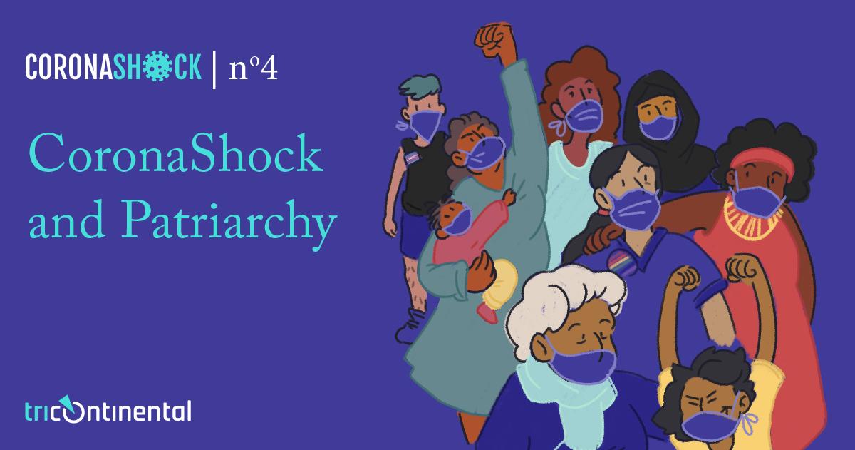 CoronaShock and Patriarchy. Cover image by Daniela Ruggeri (Argentina).>