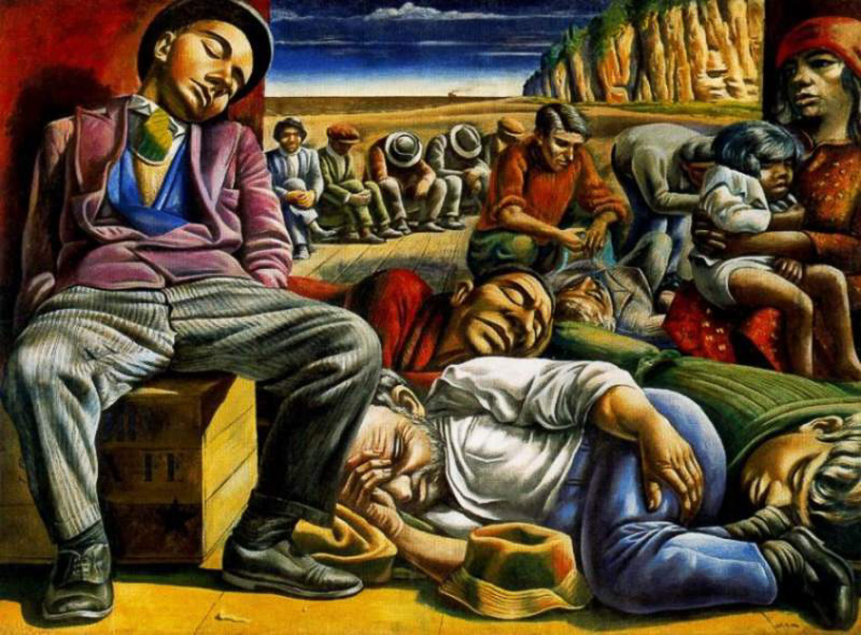 Antonio Berni (Argentina), Desocupados ('Unemployed'), 1934.