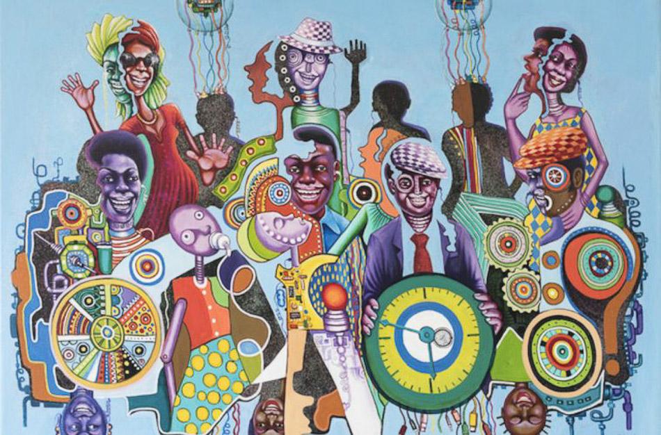 《数字革命》 孟森戈·舒拉(刚果民主共和国) 作于2016年