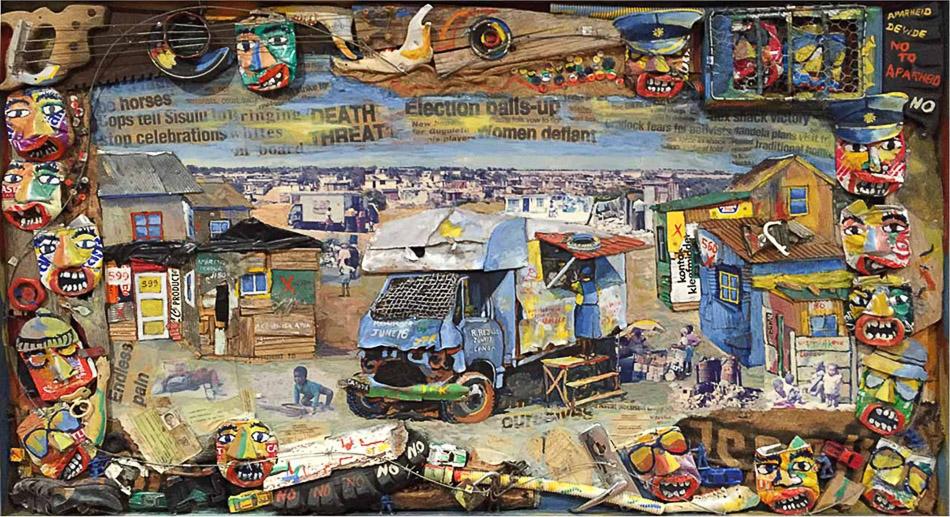 Willie Bester (South Africa), Cross Roads, 1991.